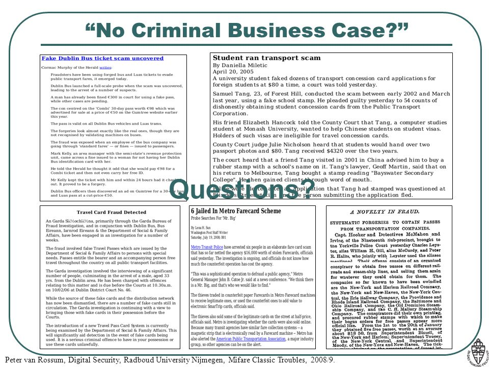 No Criminal Business Case ''