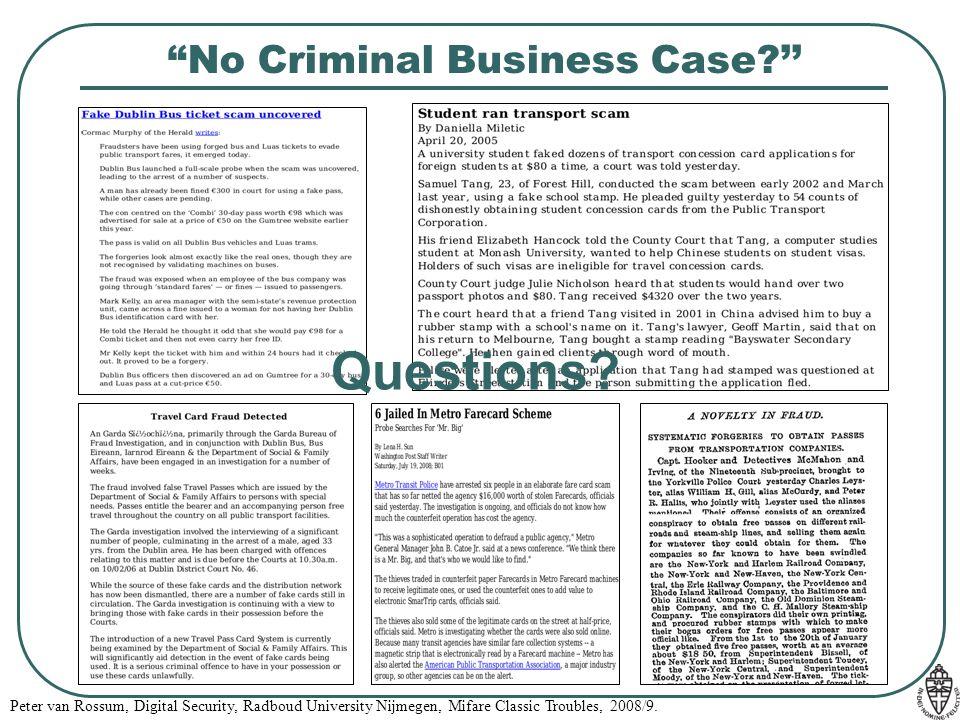 No Criminal Business Case ''
