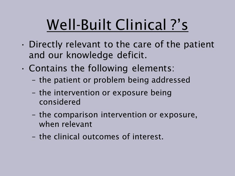 Well-Built Clinical 's