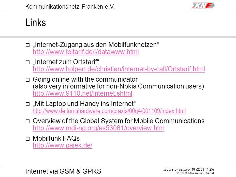 """Links """"Internet-Zugang aus den Mobilfunknetzen http://www.teltarif.de/i/datawww.html."""