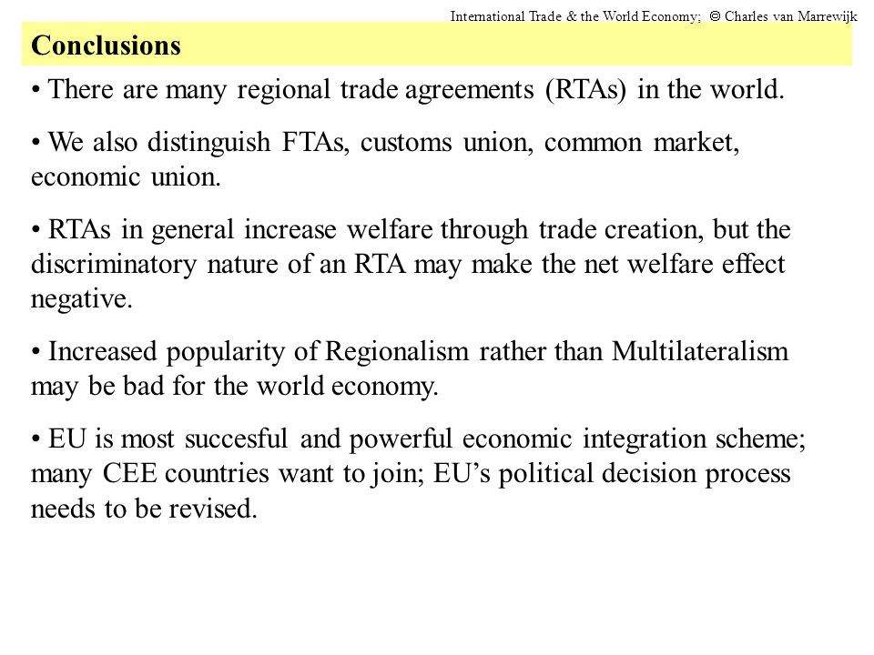 There are many regional trade agreements (RTAs) in the world.