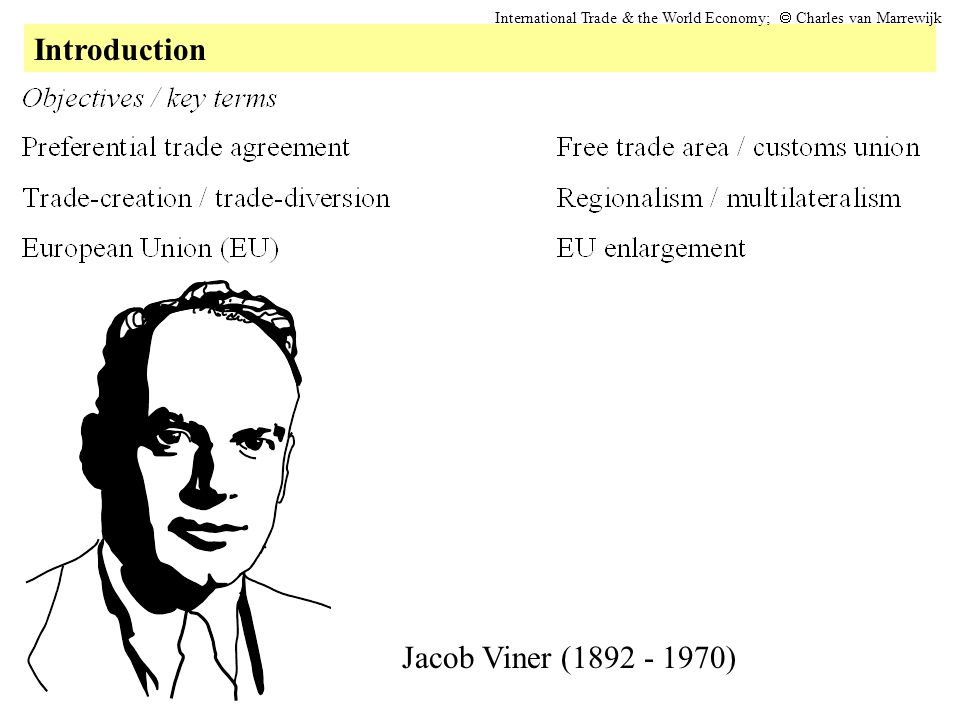 Introduction Jacob Viner ( )