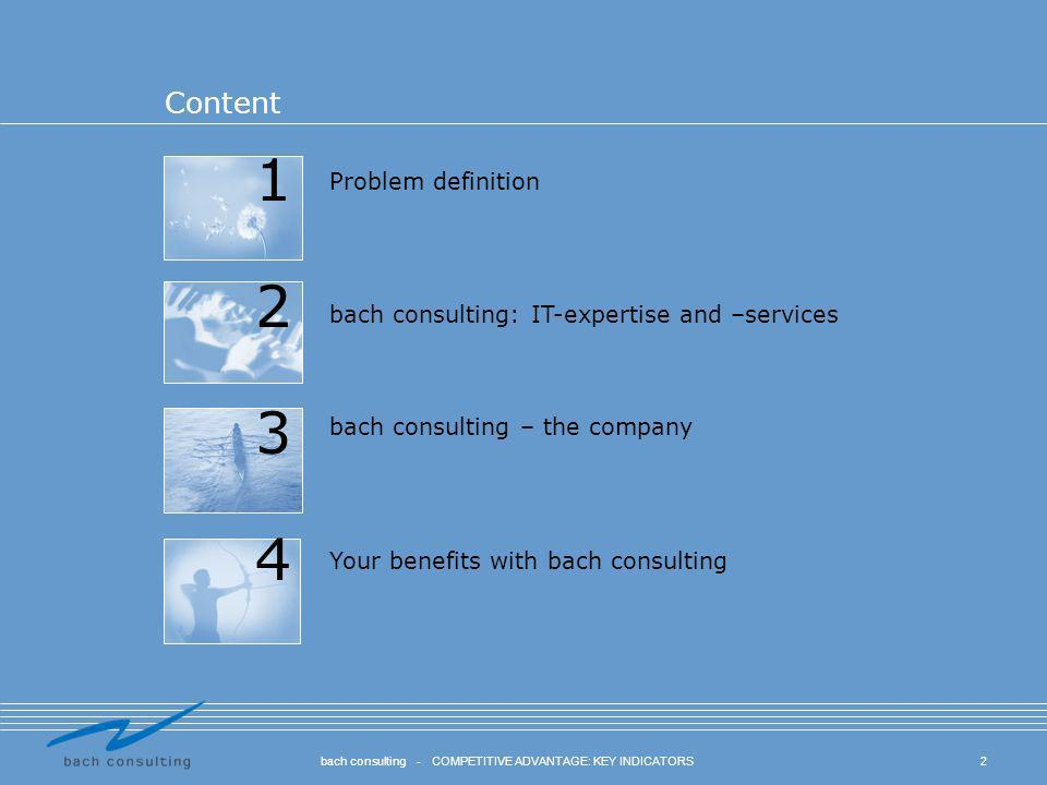 bach consulting - COMPETITIVE ADVANTAGE: KEY INDICATORS