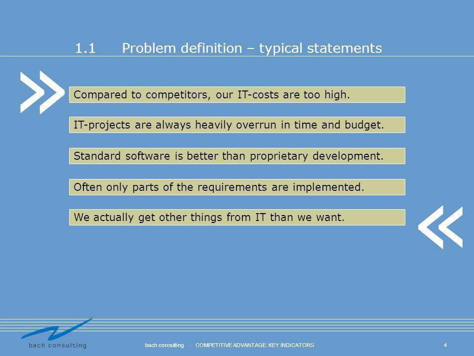 1.1 Problem definition – typical statements