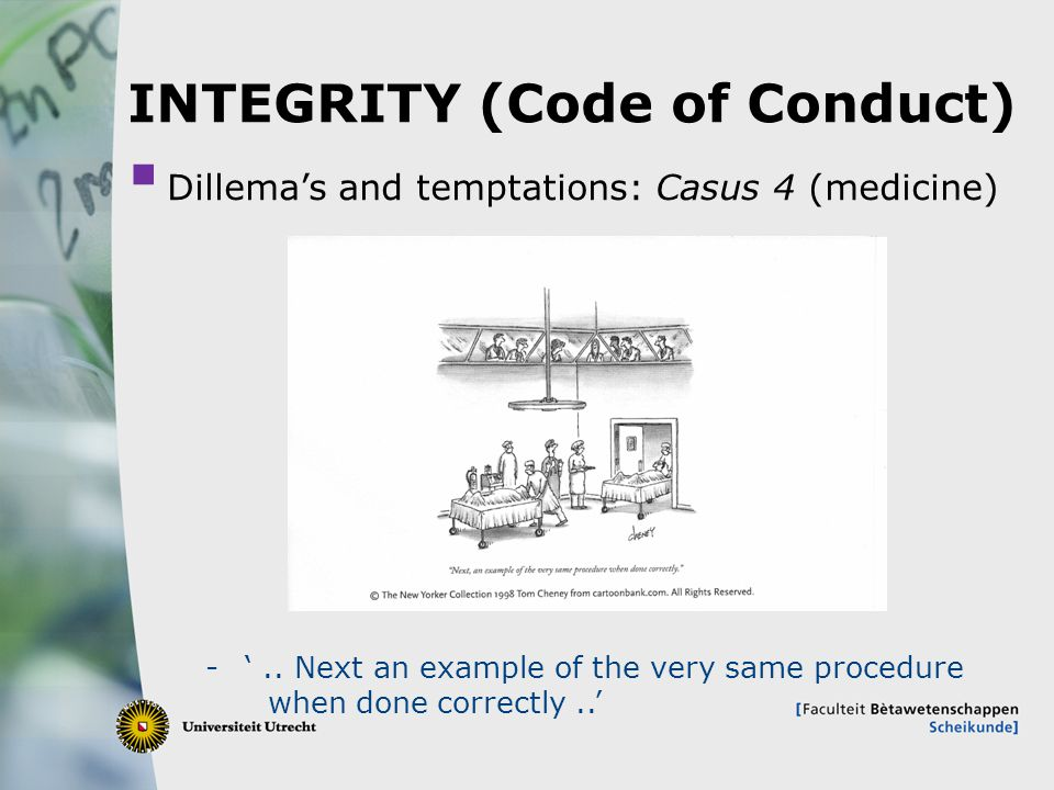 INTEGRITY (Code of Conduct)
