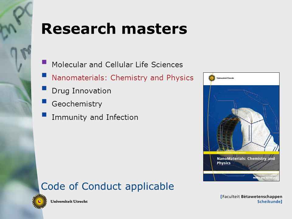 Research masters Code of Conduct applicable