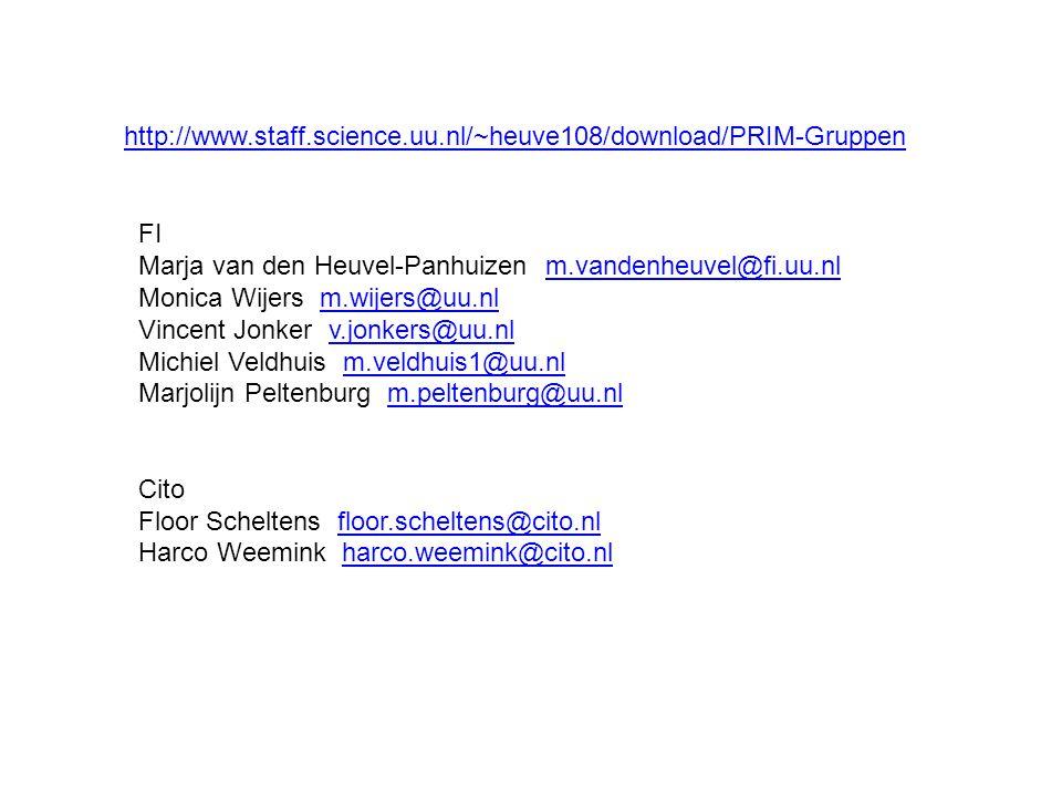 http://www.staff.science.uu.nl/~heuve108/download/PRIM-Gruppen FI. Marja van den Heuvel-Panhuizen m.vandenheuvel@fi.uu.nl.
