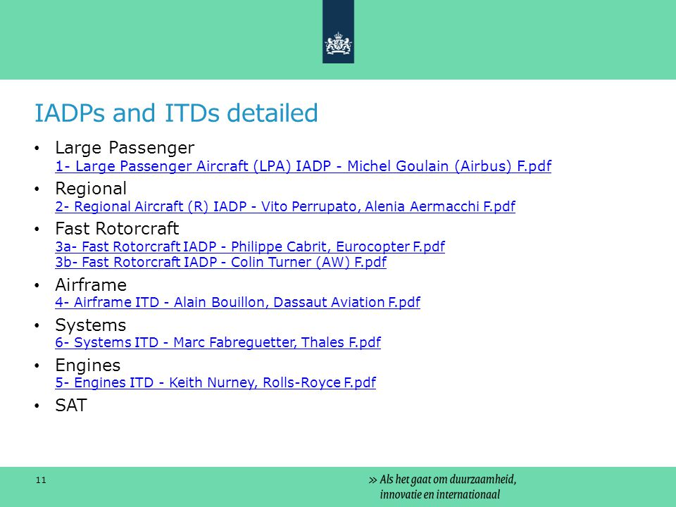 IADPs and ITDs detailed