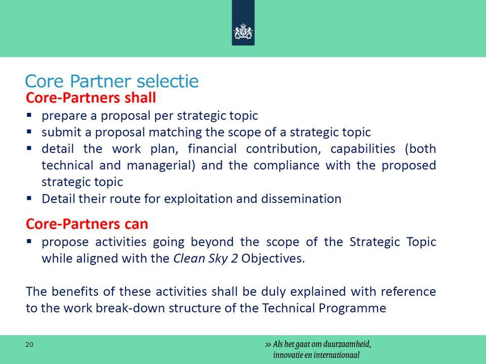 Core Partner selectie