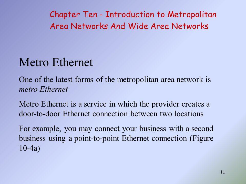 Metro Ethernet Chapter Ten - Introduction to Metropolitan