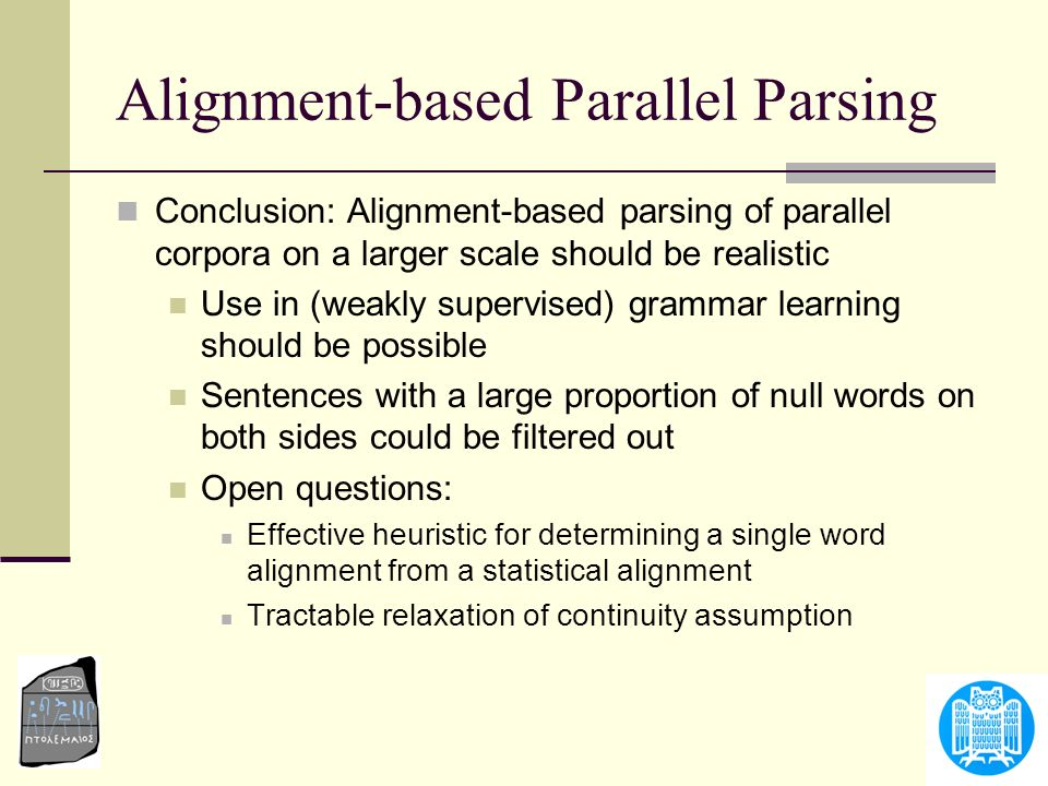Alignment-based Parallel Parsing