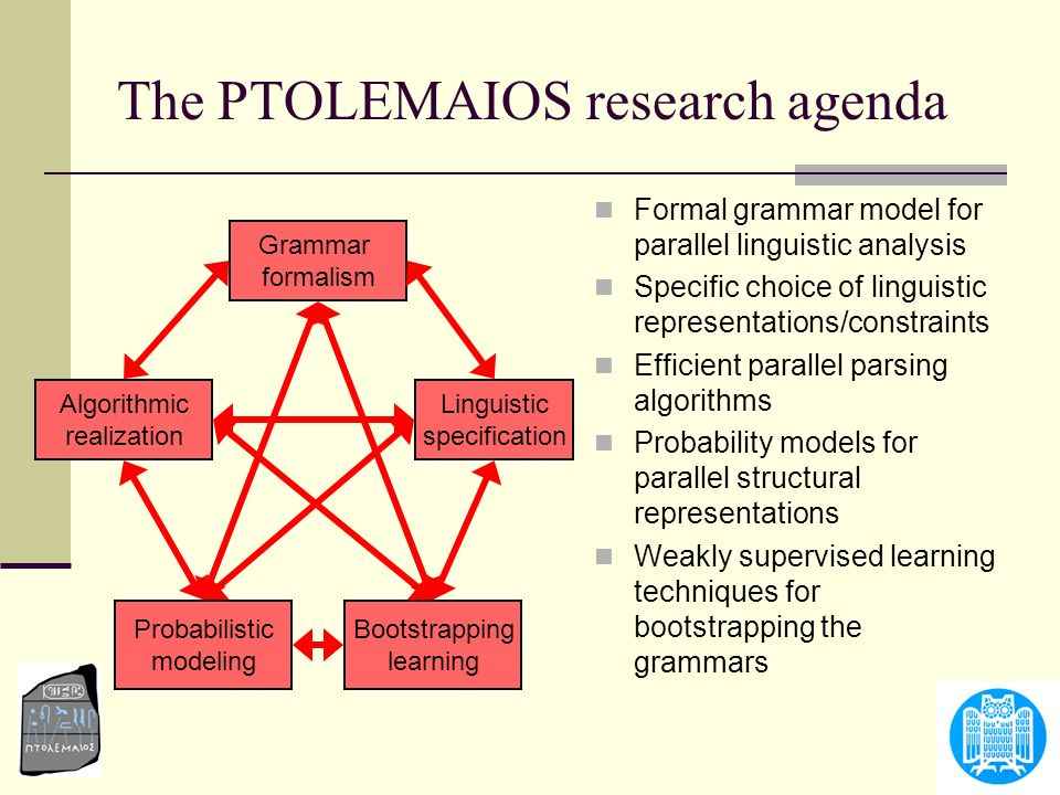 The PTOLEMAIOS research agenda