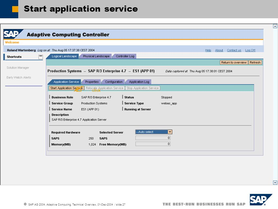 Start application service