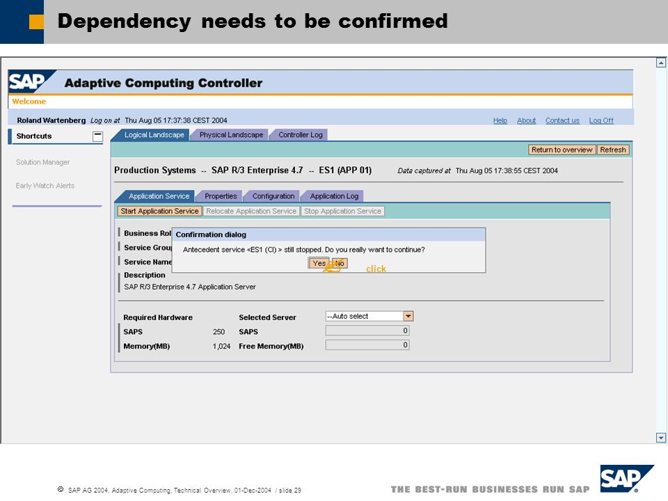 Dependency needs to be confirmed
