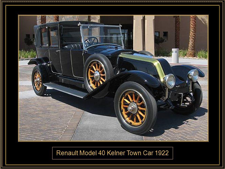 Renault Model 40 Kelner Town Car 1922