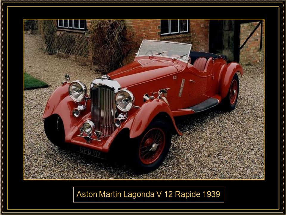 Aston Martin Lagonda V 12 Rapide 1939