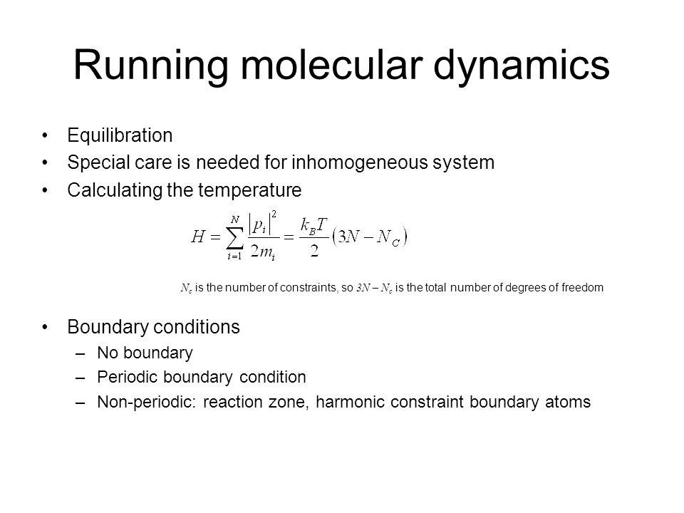 Running molecular dynamics