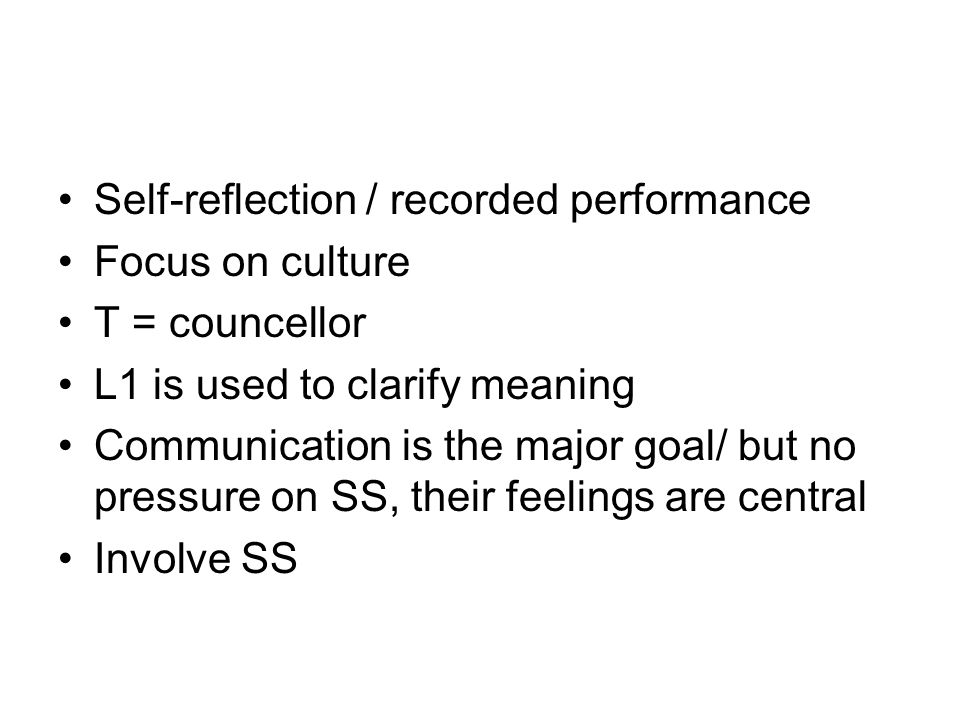 Self-reflection / recorded performance