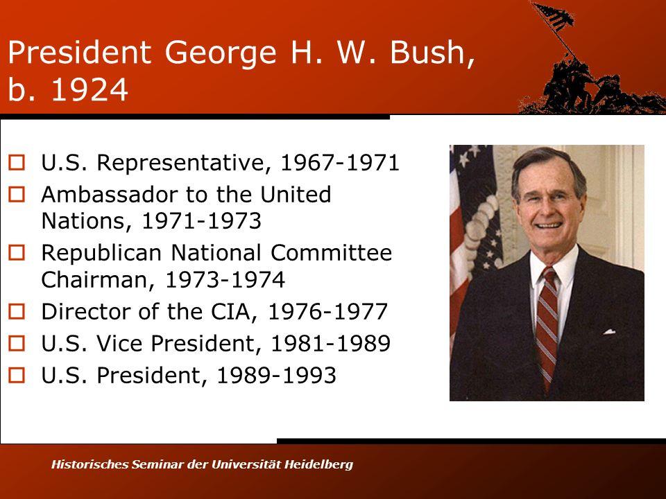 President George H. W. Bush, b. 1924