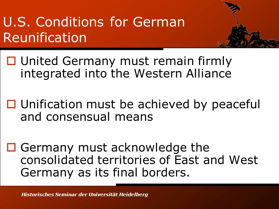 U.S. Conditions for German Reunification