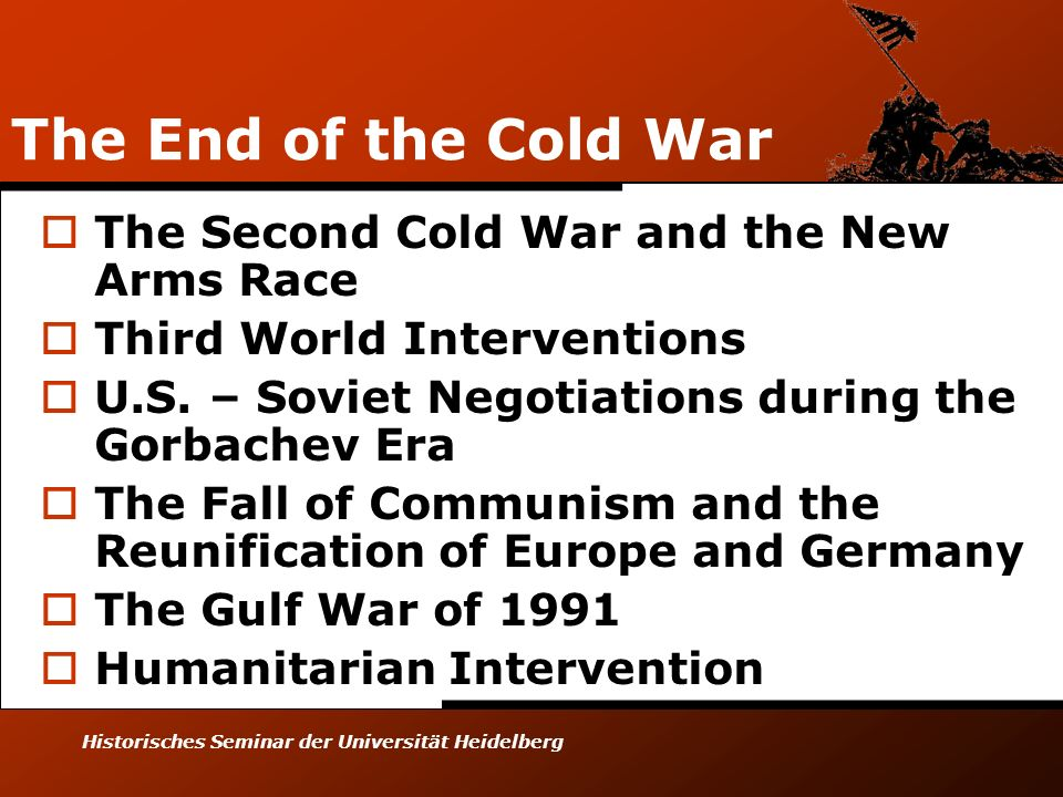 The End of the Cold War The Second Cold War and the New Arms Race