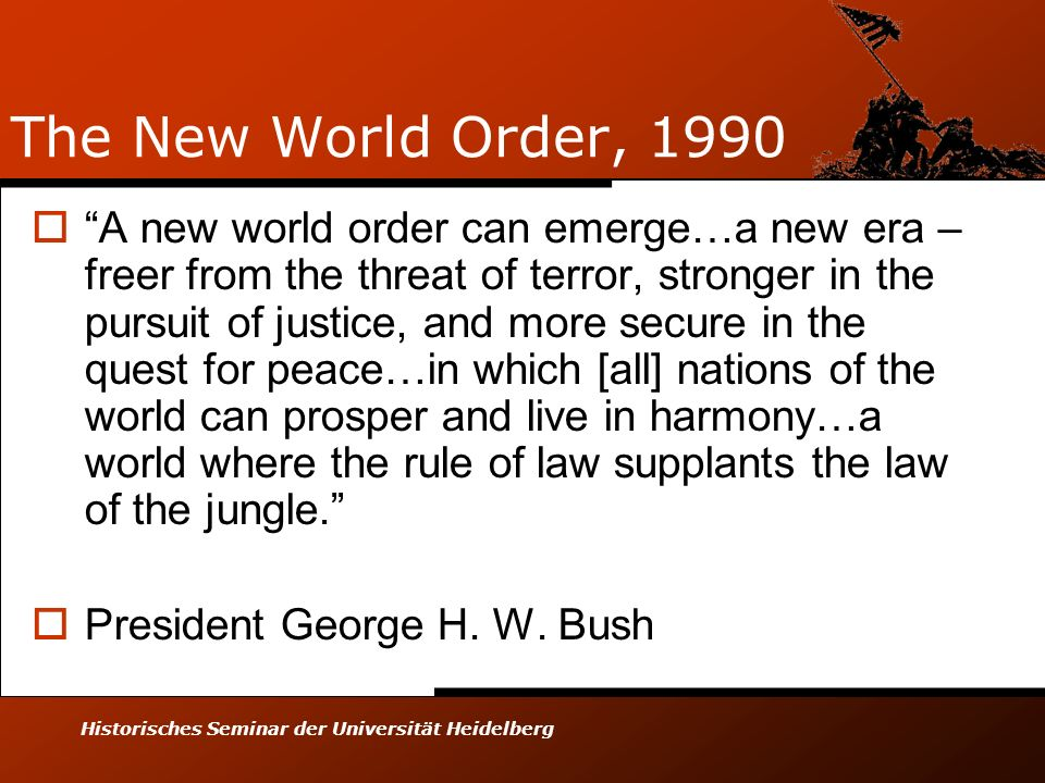 The New World Order, 1990