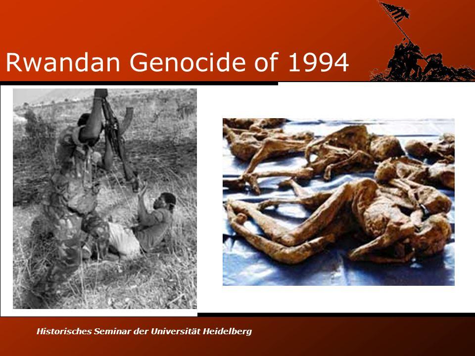 Rwandan Genocide of 1994 Historisches Seminar der Universität Heidelberg