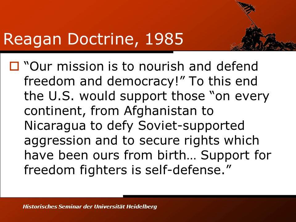 Reagan Doctrine, 1985