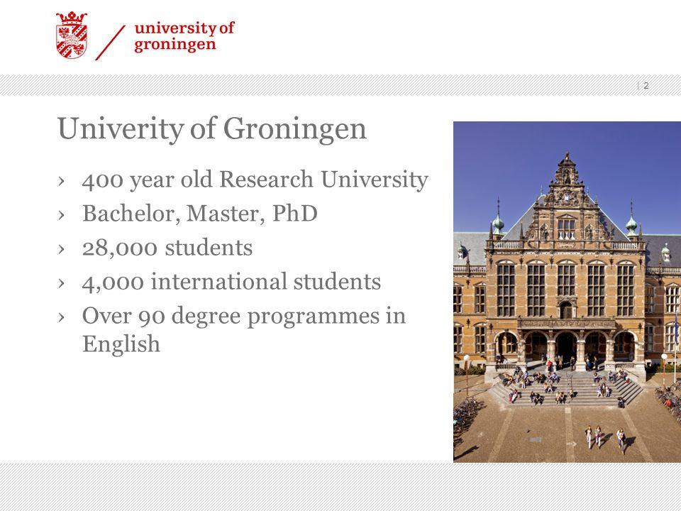Univerity of Groningen