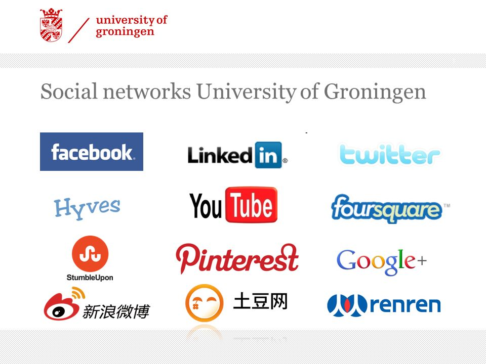 Social networks University of Groningen