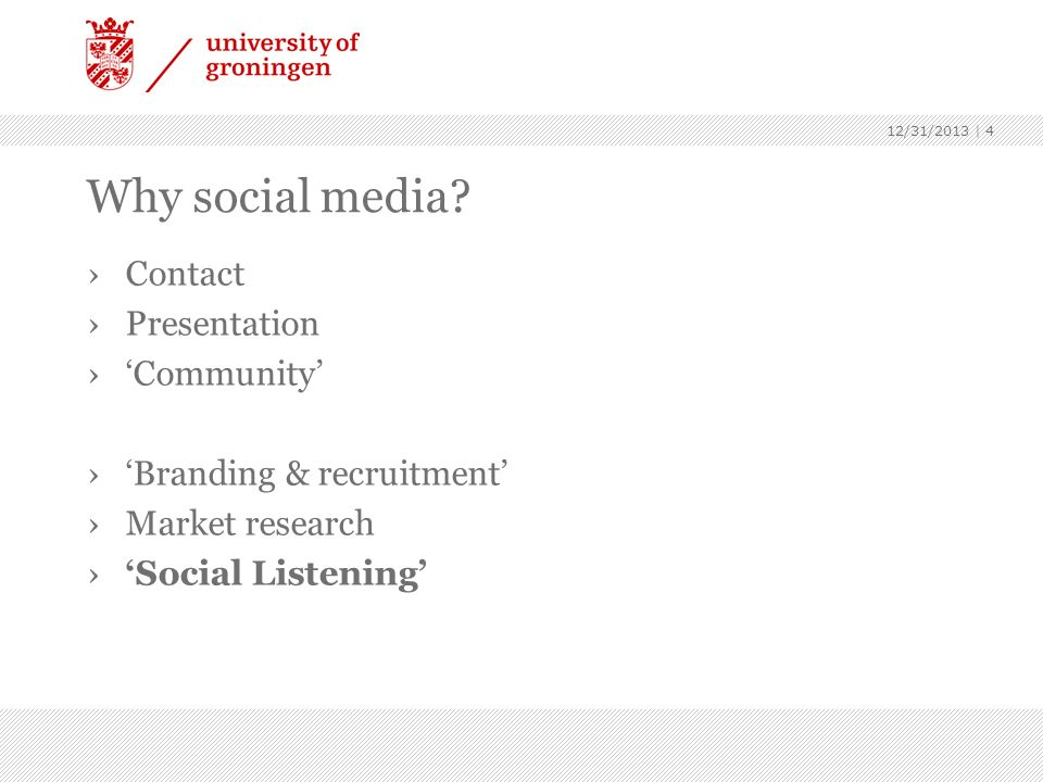 Why social media Contact Presentation 'Community'