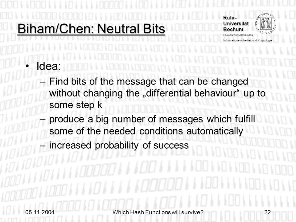 Biham/Chen: Neutral Bits