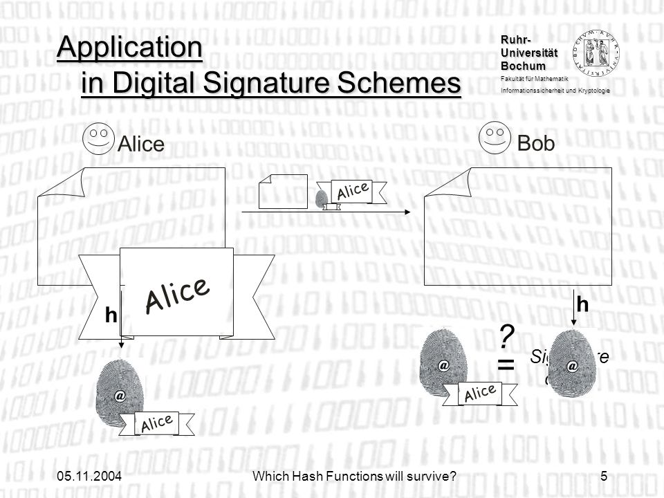 Application in Digital Signature Schemes