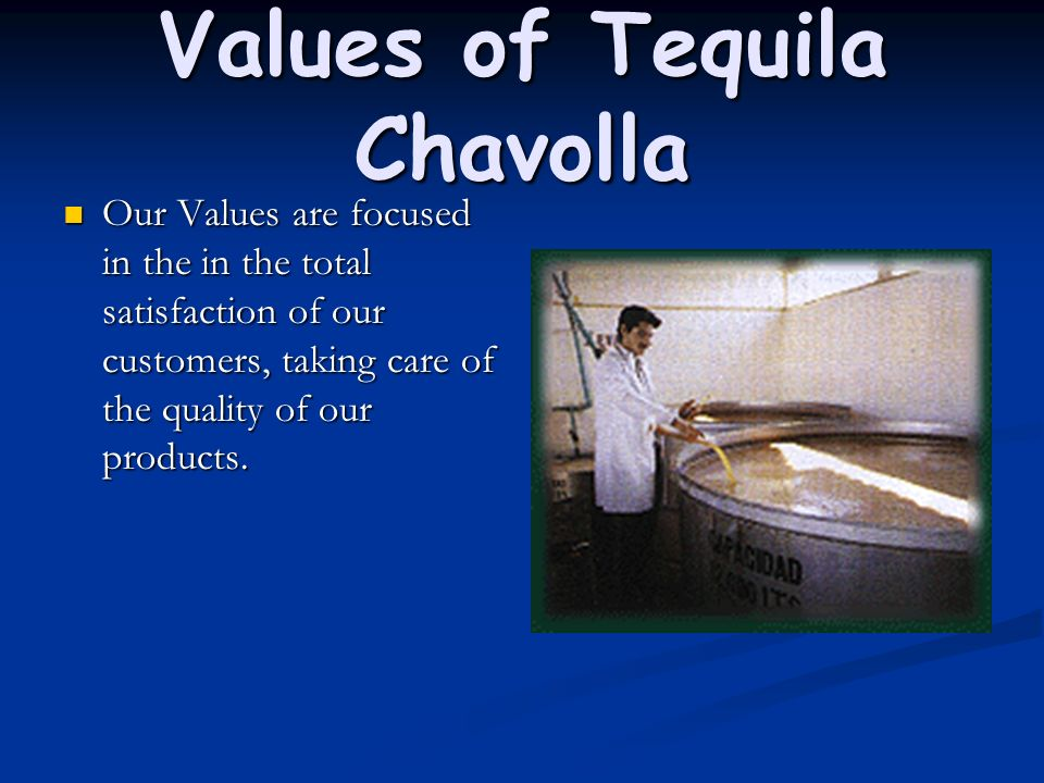 Values of Tequila Chavolla