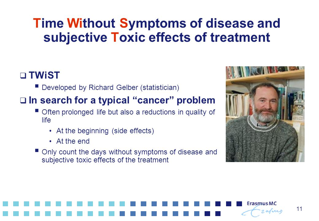 Time Without Symptoms of disease and subjective Toxic effects of treatment