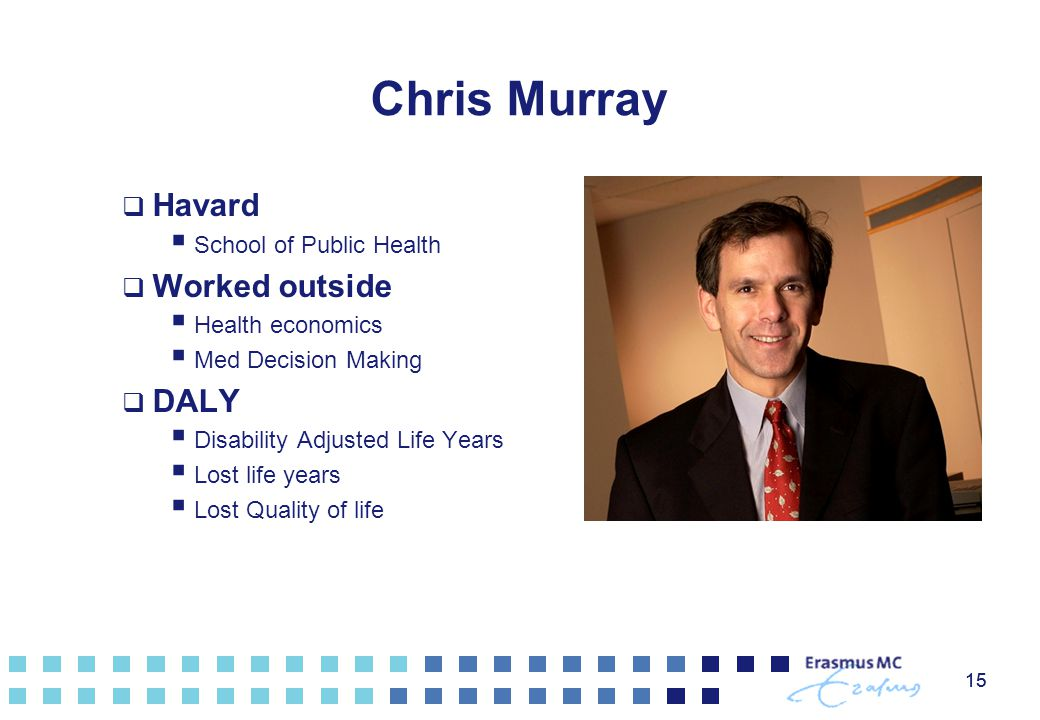 Chris Murray Havard Worked outside DALY School of Public Health