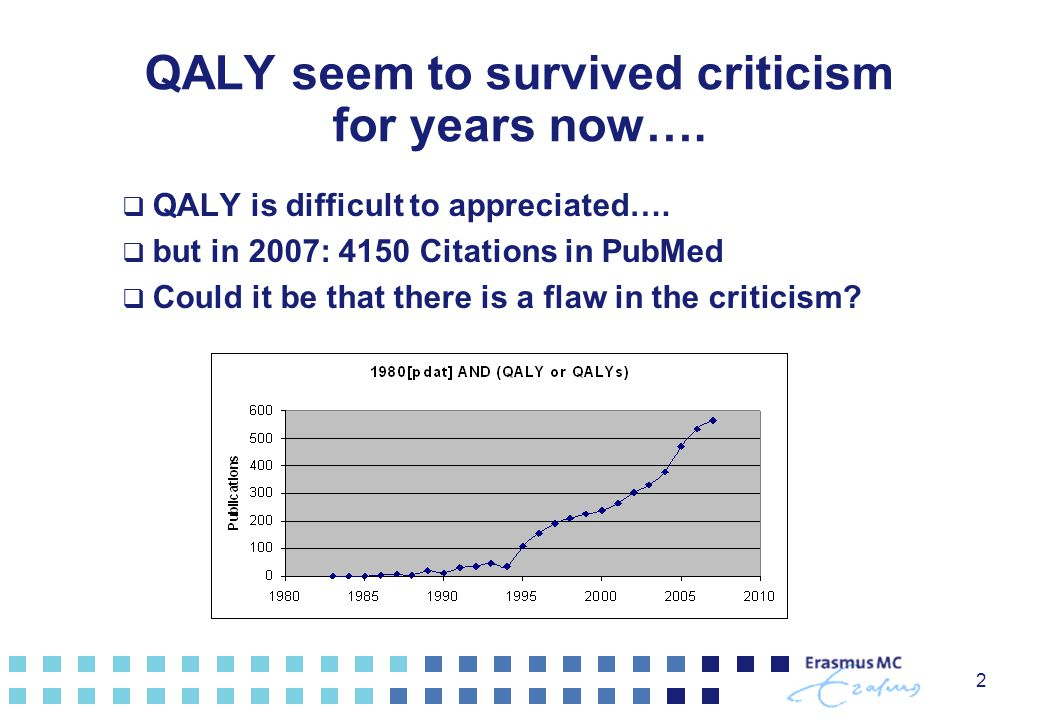 QALY seem to survived criticism for years now….