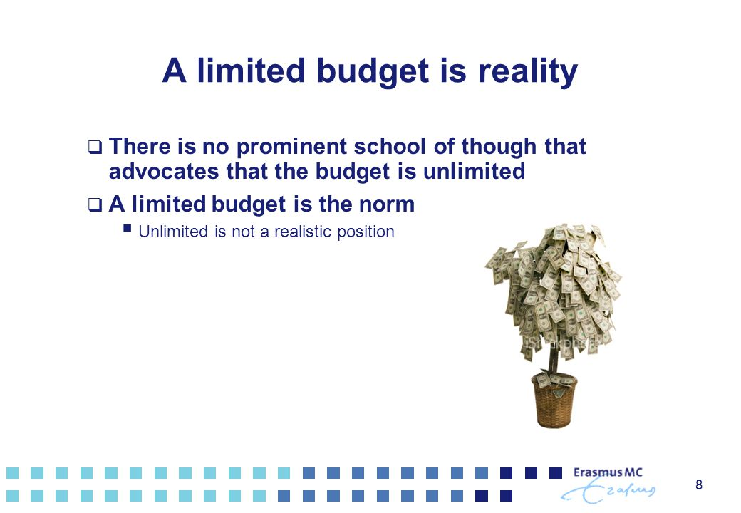 A limited budget is reality