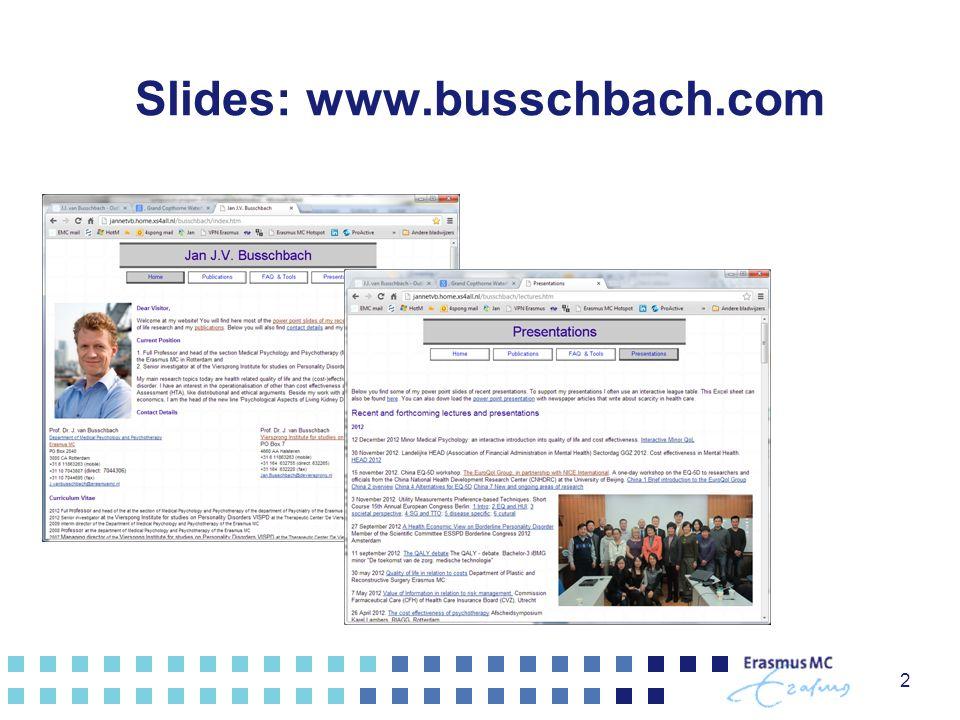 Slides: www.busschbach.com