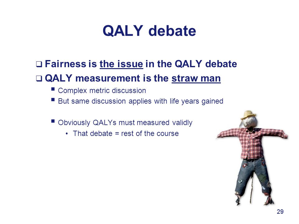 QALY debate Fairness is the issue in the QALY debate