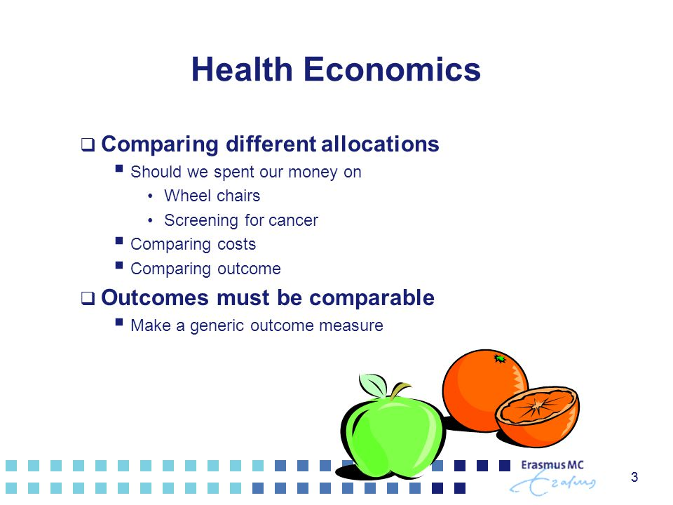 Health Economics Comparing different allocations