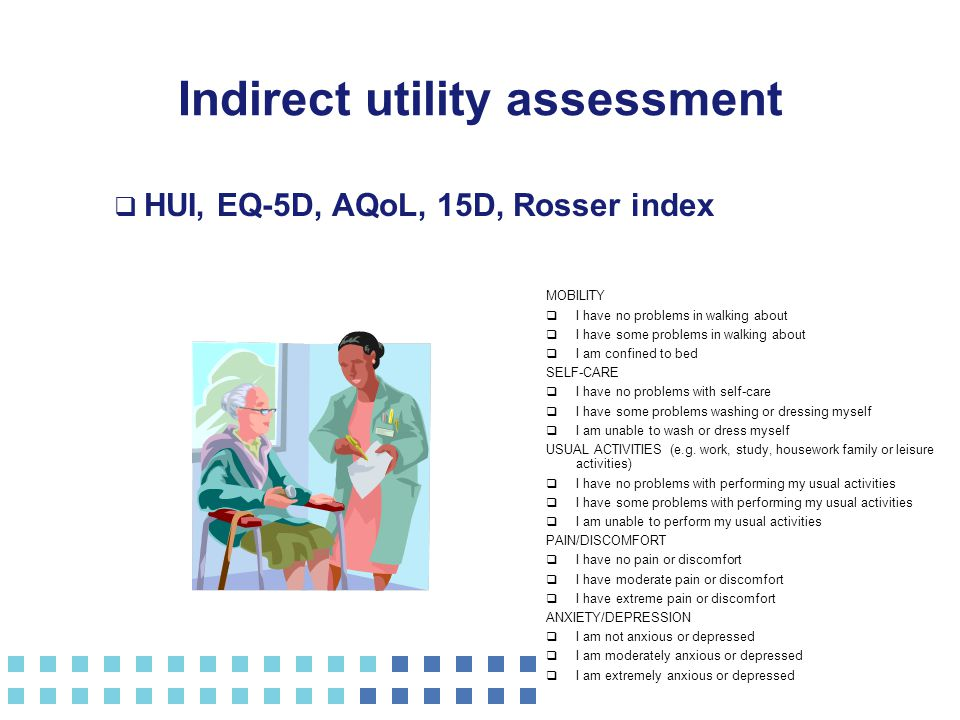 Indirect utility assessment