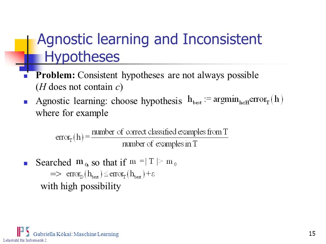 Agnostic learning and Inconsistent Hypotheses