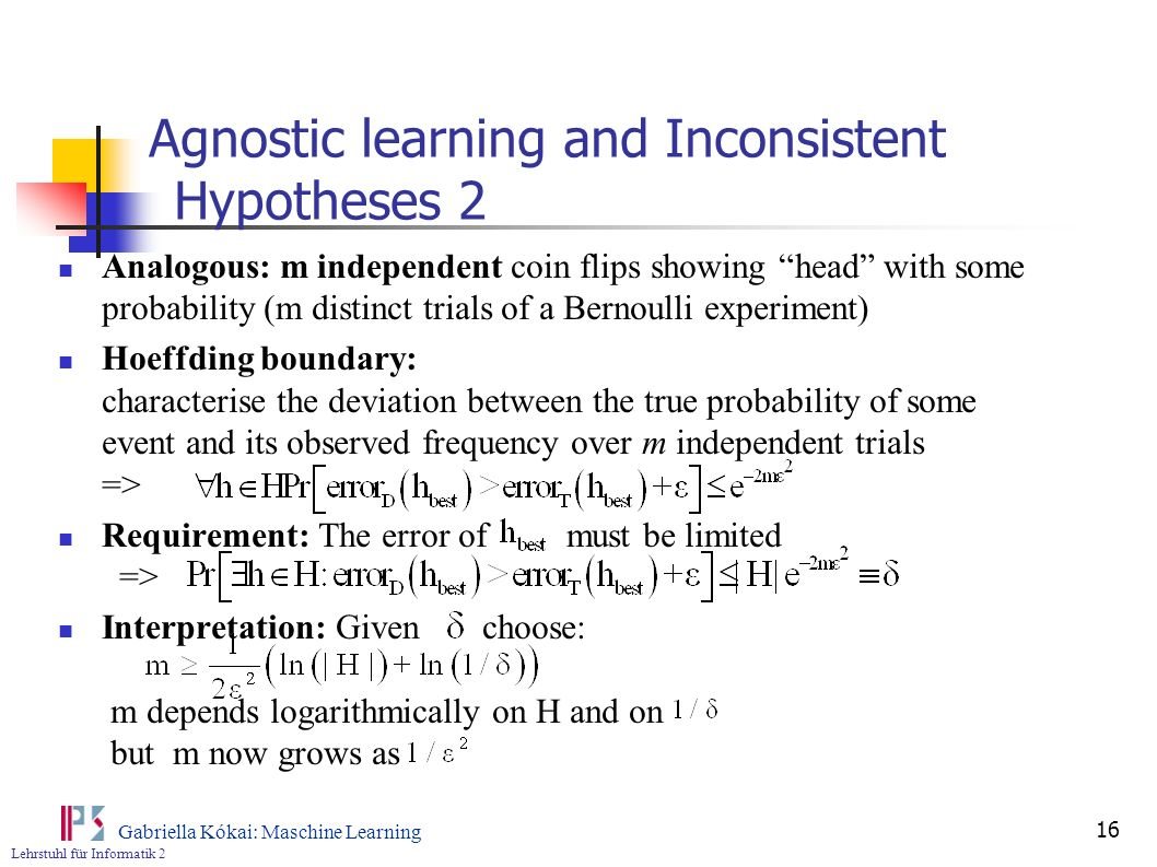Agnostic learning and Inconsistent Hypotheses 2