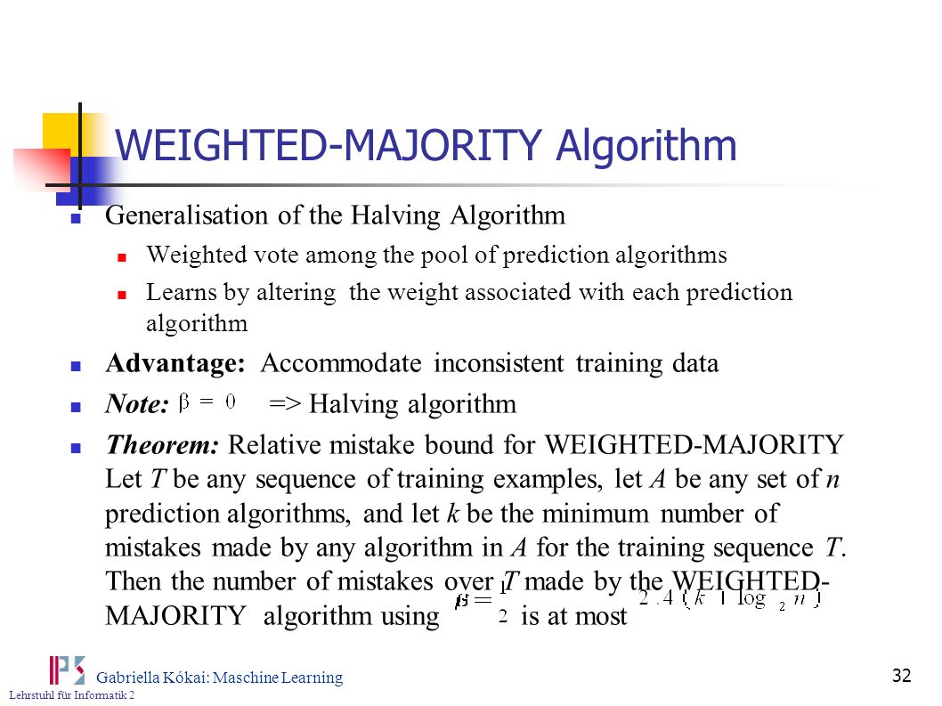 WEIGHTED-MAJORITY Algorithm