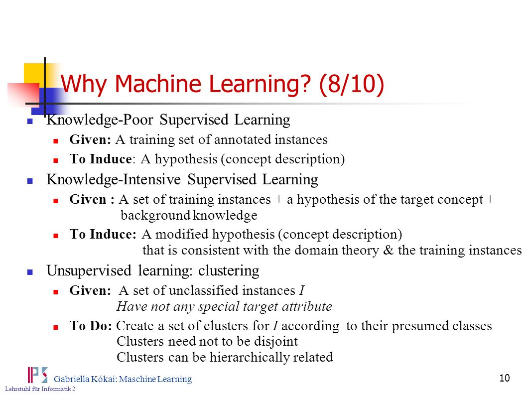 Why Machine Learning (8/10)