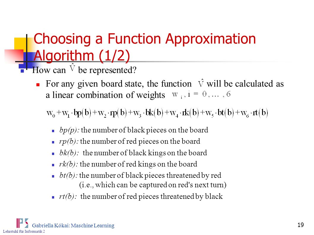 Choosing a Function Approximation Algorithm (1/2)