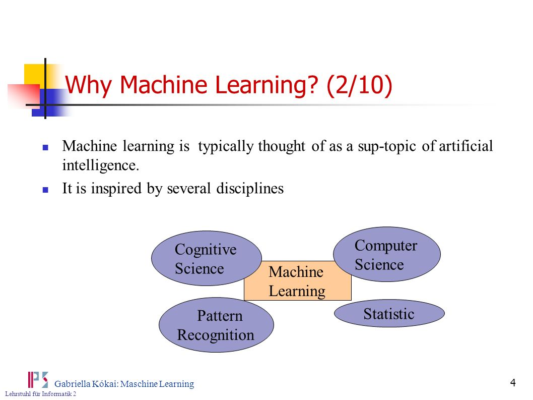 Why Machine Learning (2/10)