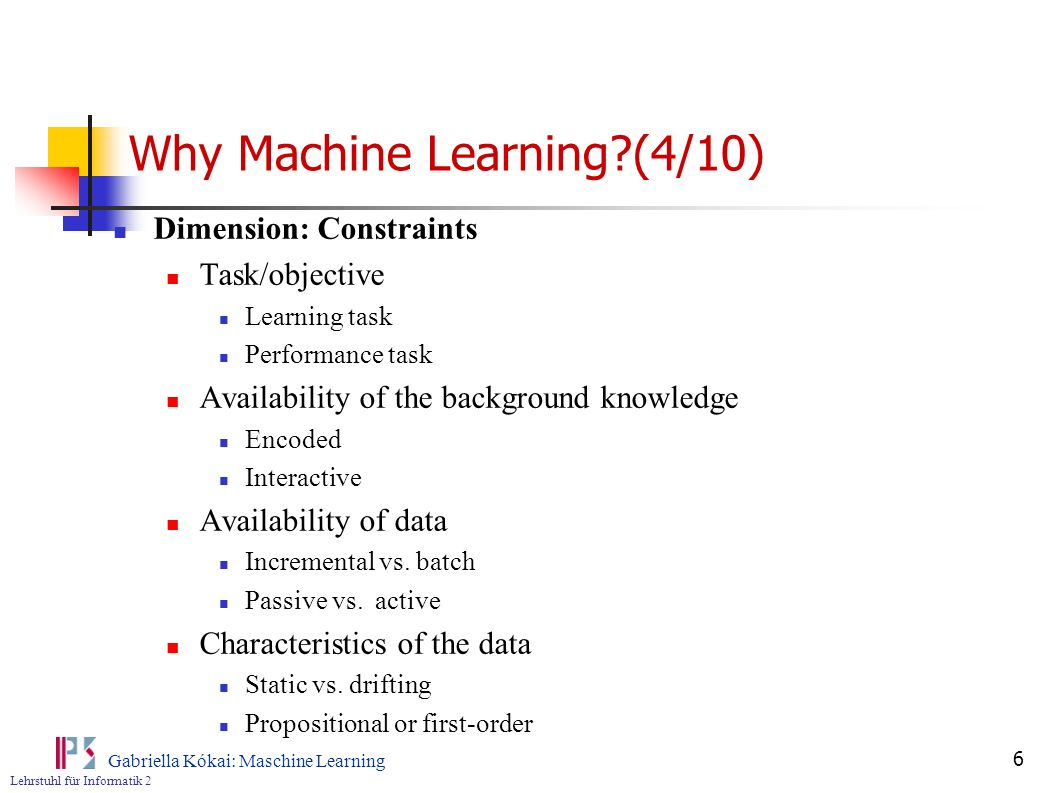 Why Machine Learning (4/10)