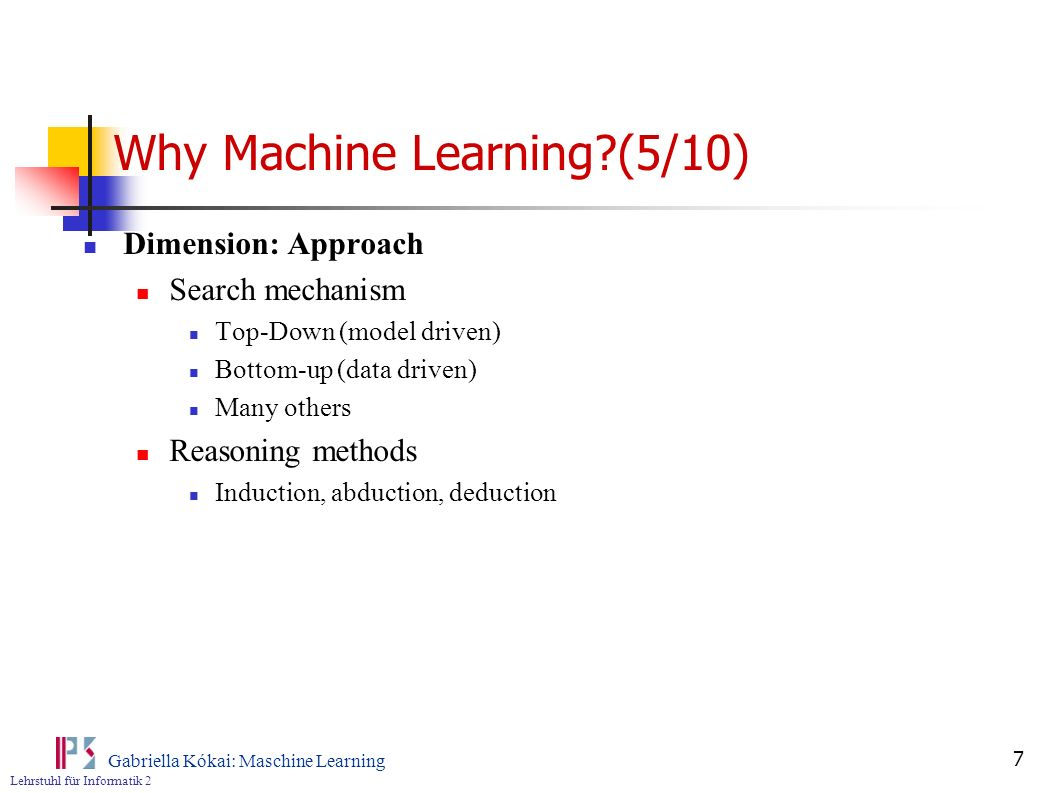 Why Machine Learning (5/10)